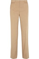 Tory Burch Callie Stretch Cotton Blend Wide Leg Pants Nude