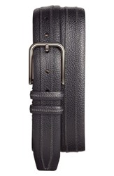 Mezlan Men's Leather Belt Black