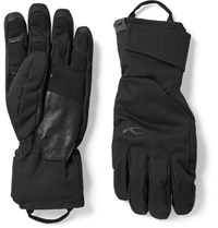 Kjus Formula Leather Trimmed Shell Gloves Black