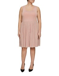 Junarose Yara Solid Sleeveless Dress Peach Beige