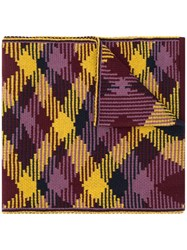 Missoni Checked Pattern Scarf Yellow