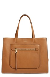 Vince Camuto Elvan Leather Tote Brown Mocha