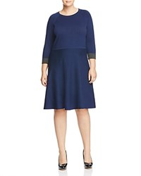 Vince Camuto Plus Flare Sweater Dress Naval Navy
