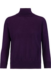 Autumn Cashmere Turtleneck Sweater Dark Purple
