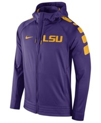 Nike Men's Lsu Tigers Elite Stripe Basketball Performance Full Zip Hoodie Purple