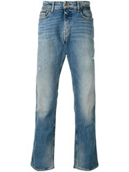 Calvin Klein Jeans Light Wash Men Cotton Spandex Elastane 28 Blue