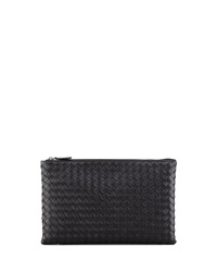 Bottega Veneta Extra Large Flat Cosmetic Bag Black