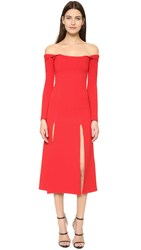 Christopher Esber Owl Dress Red