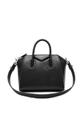 Givenchy Small Smooth Leather With Chain Piping Antigona In Black