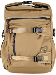 As2ov Triple Buckle Backpack Men Nylon One Size Brown