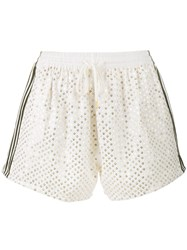 Ashish Sequin Embellished Shorts Nude And Neutrals