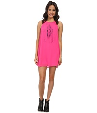Rock And Roll Cowgirl Sleeveless Dress D5 3778 Hot Pink Women's Dress