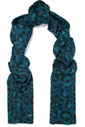 Maje Metallic Intarsia Knit Scarf Multicolor