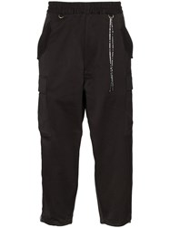 Mastermind Japan Skull Detail Cargo Trousers Black