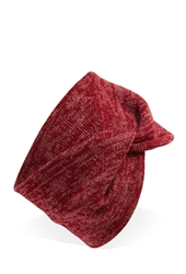 Forever 21 Marled Knit Twisted Headwrap Cherry