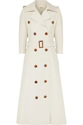 Khaite Charlotte Cotton Gabardine Trench Coat Cream