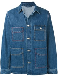Paul Smith Ps 'Vintage Stretch' Denim Chore Jacket Blue
