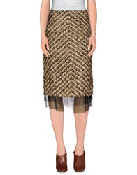 Diana Gallesi 3 4 Length Skirts Beige