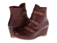 Eric Michael Lena Wine Women's Zip Boots Burgundy