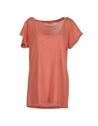 Mih Jeans Short Sleeve T Shirts Pastel Pink