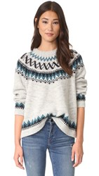 The Great Chalet Sweater Teal Fair Isle