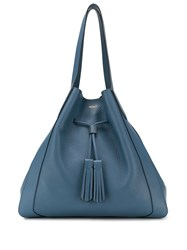 Mulberry Millie Drawstring Tote Bag Blue