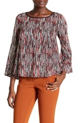 Ella Moss Camella Long Bell Sleeve Shirt Red