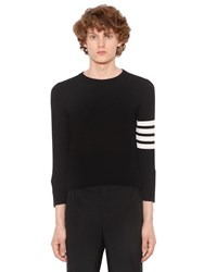 Thom Browne Intarsia Stripes Cashmere Short Sweater