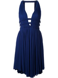 Jay Ahr V Neck Sleeveless Short Dress Blue