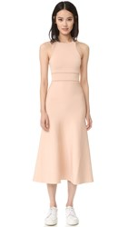 Alexander Wang Tank Dress With Bike Chain And Suspended Waistband Blush