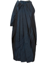 Maria Calderara Pleated Dress Blue