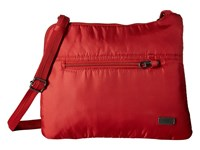 Pacsafe Daysafe Anti Theft Slim Crossbody Bag Baked Apple Cross Body Handbags Red