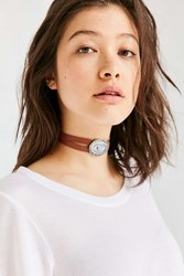 Urban Outfitters Myra Western Choker Necklace Brown