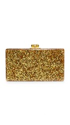 Edie Parker Jean Solid Clutch Gold Confetti