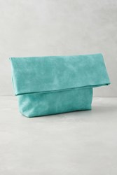 Anthropologie Washed Pastel Clutch Sky
