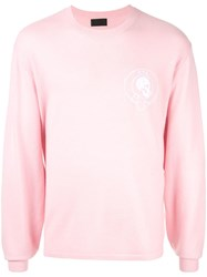 Rta Back Bone Sweater Pink
