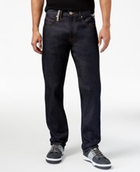 Sean John Men's Reverse Denim Jeans Raw Indigo