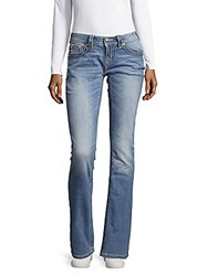 Miss Me Thick Stitch Relaxed Jeans Light Blue