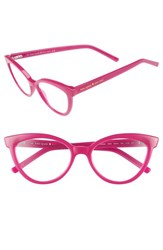 Women's Kate Spade New York 'Danna' 52Mm Cat Eye Reading Glasses Milky Pink