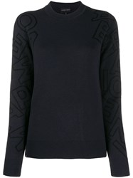 Emporio Armani Knitted Jumper Blue