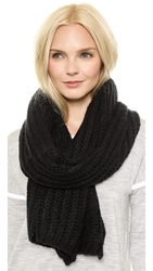 Hat Attack Chunky Knit Scarf Black
