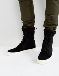 Asos Trainer Boots In Black With Chunky Sole Black