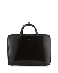 Givenchy Structured Leather Zip Top Tote Bag Black