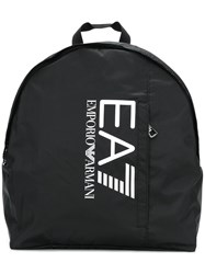 Emporio Armani Ea7 Logo Packpack Black