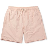 Saturdays Surf Nyc Timothy Slim Fit Mid Length Swim Shorts Peach