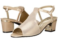 Soft Style Dalyne Natural Sparkle Shine Gold Heel Women's Shoes Beige