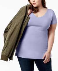 Planet Gold Trendy Plus Size Fitted V Neck T Shirt Allure