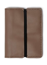 Topman Brown Taupe Card Holder