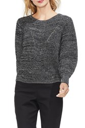 Vince Camuto Lace Up Back Sweater Black Marl