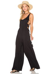 Indah Wanderer Lace Up Side Jumpsuit Black